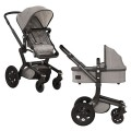 joolz-ensemble de poussette joolz chassis noir tissu argent
